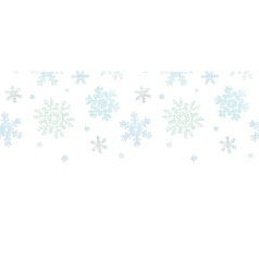 Blue Christmas Snowflakes Textile Texture vector image vector image