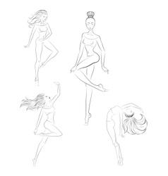 Contemporary dance vector image