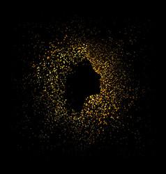golden silhouette vector image