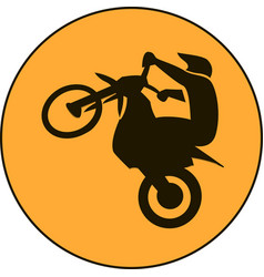 motocross enduro free-ride sign vector image