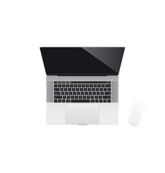 realistic modern laptop vector image vector image