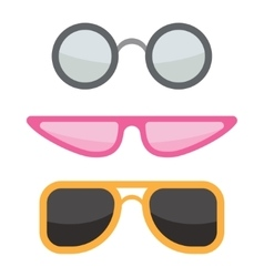 Sunglasses icons set vector image vector image