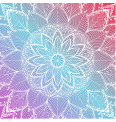 beautiful colorful mandala floral background vector image