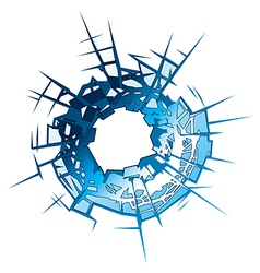Bullet Hole vector image vector image