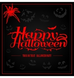Happy Halloween creepy letters for greeting card vector image vector image