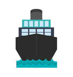 cargo ship icon imag vector image