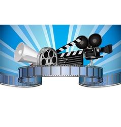 Cinema movie film and video media industry vector image
