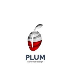 Creative abstract plum fruit logo vector