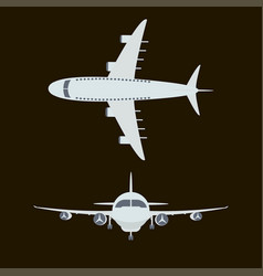 large passenger airplane vector image