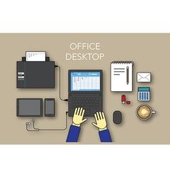 Office desktop vector image vector image