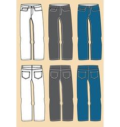 Retro jeans design vector image vector image