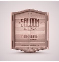 Saloon Doors vector image vector image