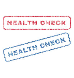 Health check textile stamps vector