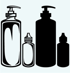 Hygiene products in plastic bottles vector image vector image