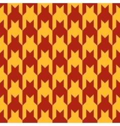 Pattern with red figures on a yellow background vector image vector image