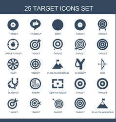 25 target icons vector