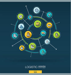 Abstract logistic and distribution background vector