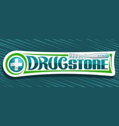 Banner for drug store vector