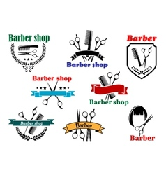 Barber shop signboard designs vector