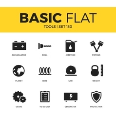 Basic set of Tools icons vector
