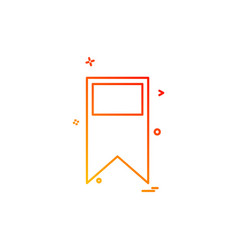bookmark tag icon design vector image