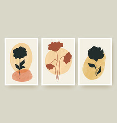 botanical wall art posters templates set vector image