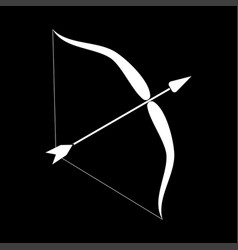 bow and arrow it is icon vector image