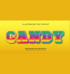 candy text effect vector image
