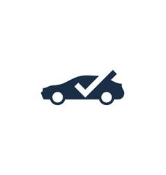 check automotive logo icon design vector image