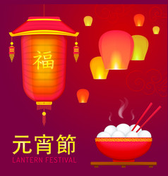 chinese spring lantern festival vector image