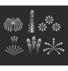 Christmas fireworks on dark background vector