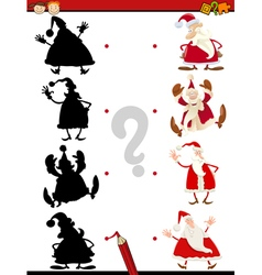 christmas shadow task for kids vector image