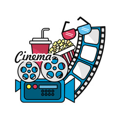 cinematography with short film tools vector image vector image