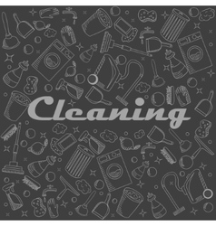 Cleaning chalk vector image