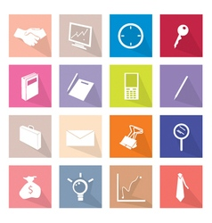 Collection of 16 Business Item Icons Label vector