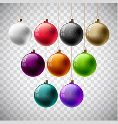 colorful christmas ball set on a vector image