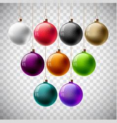 Colorful christmas ball set vector