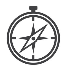 compass line icon navigation and travel vector image