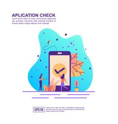 concept application check modern conceptual vector image