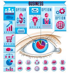 Creative infographics concept human eye looking vector