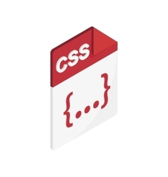CSS file extension icon isometric 3d style vector