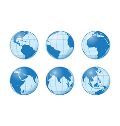 earth blue vector image