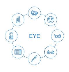 Eye icons vector