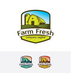 farm fresh logo design vector image