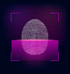 fingerprint scanning vector image