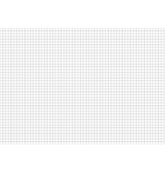 Five millimeters grid on a4 size horizontal sheet vector image