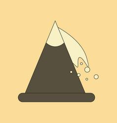 Flat icon stylish background snow avalanche vector