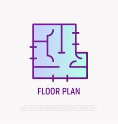 floor plan thin line icon vector image