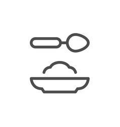 food line icon vector image