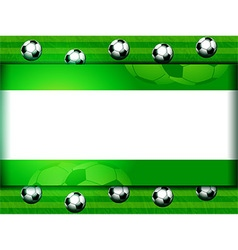 Football soccer panel on green vector image